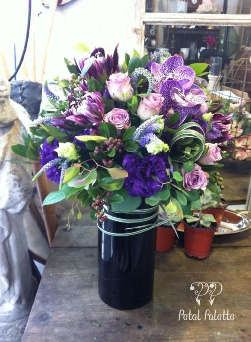 Long vase arrangement seoul florist
