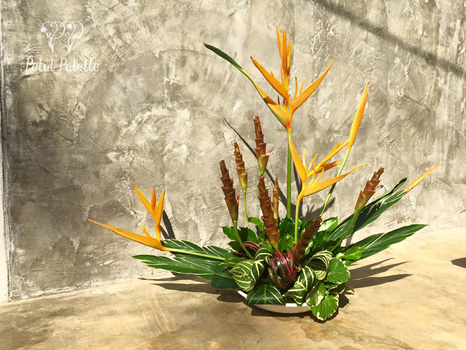 tropical floral art flower arrangement seoul florist