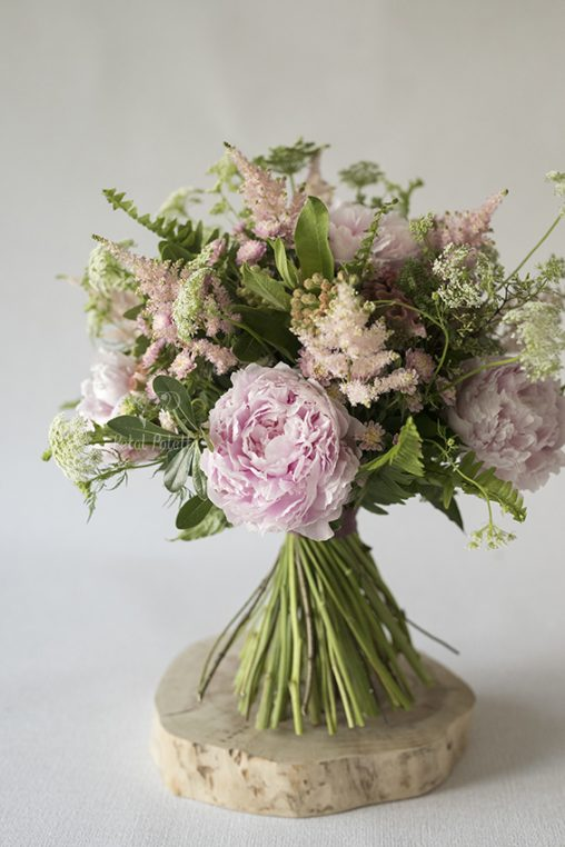 Peony Hand tied Proposal Bouquet Seoul Florist Petal Palette