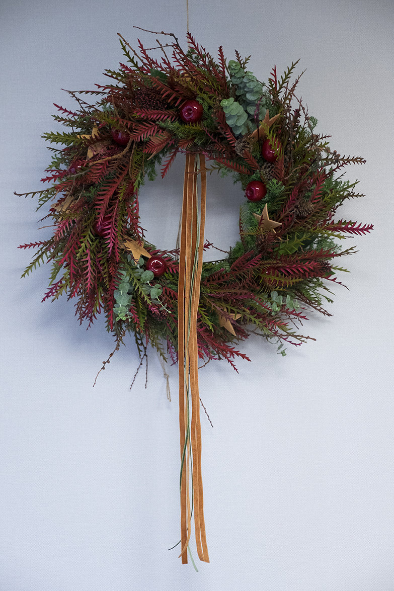 Red Christmas Wreath Seoul Florist