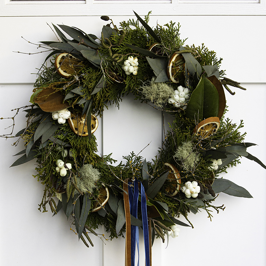 Wedding Flowers Vancouver Bc: Fresh Christmas Wreath, Victoria BC Florist, Petal Palette