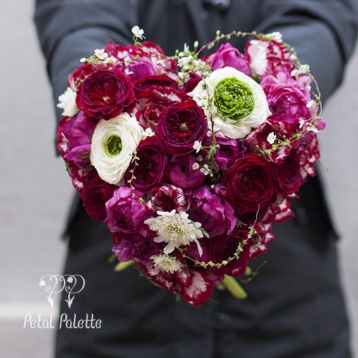 Heart Shaped handtied Valentine's Day bouquet
