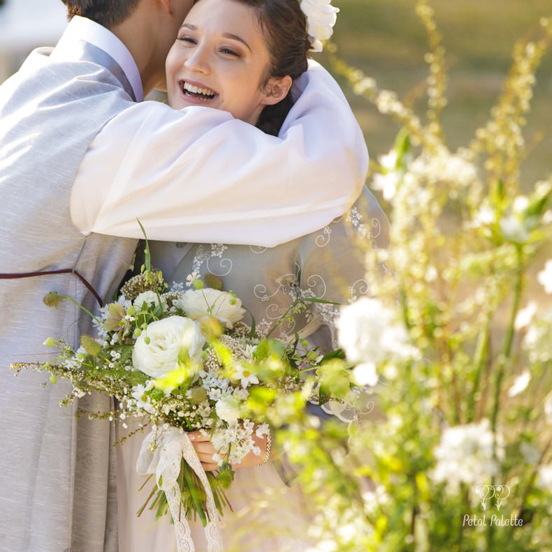 Korean Canadian International Couple Wedding Small Wedding Seoul Wedding Florist Petal Palette
