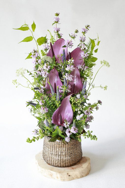 Lux Flower Basket, Seoul Florist, Petal Palette