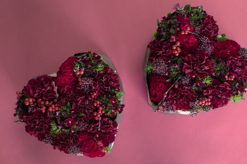 Heart Shaped Christmas Floral Arrangement Christmas Floral Workshop Seoul Florist