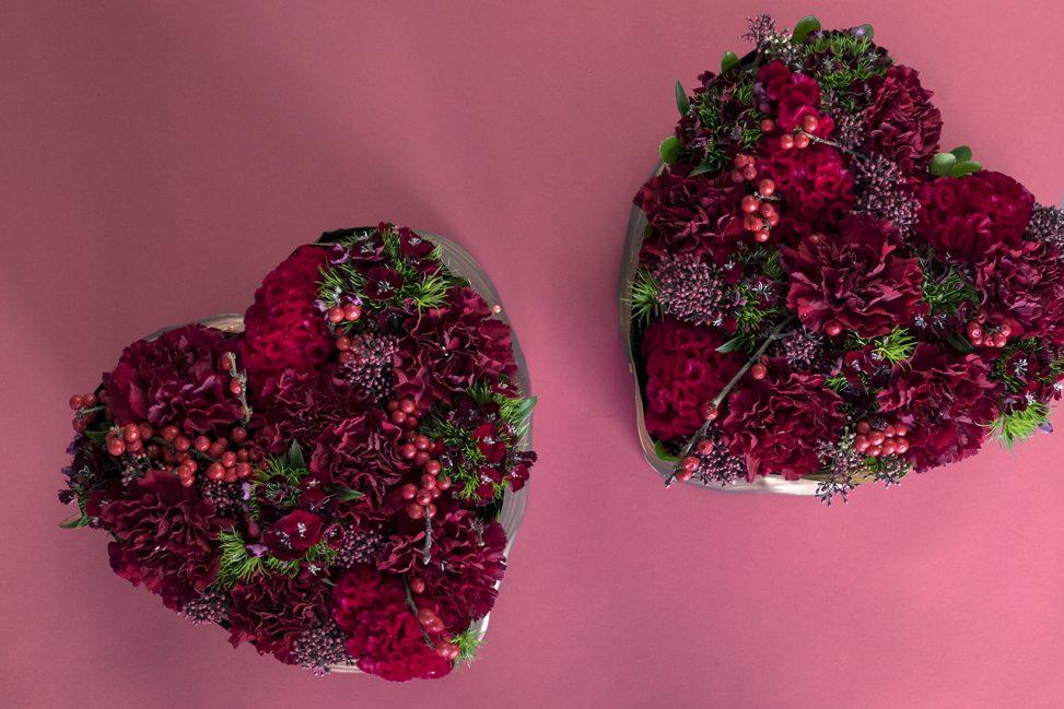 Heart Shaped Christmas Floral Arrangement Christmas Floral Workshop Seoul Florist