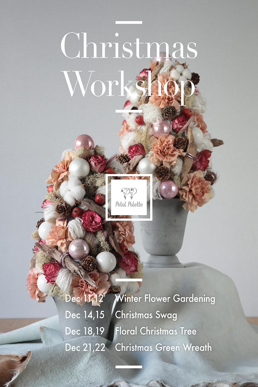 Christmas Flower Workshop Seoul Florist
