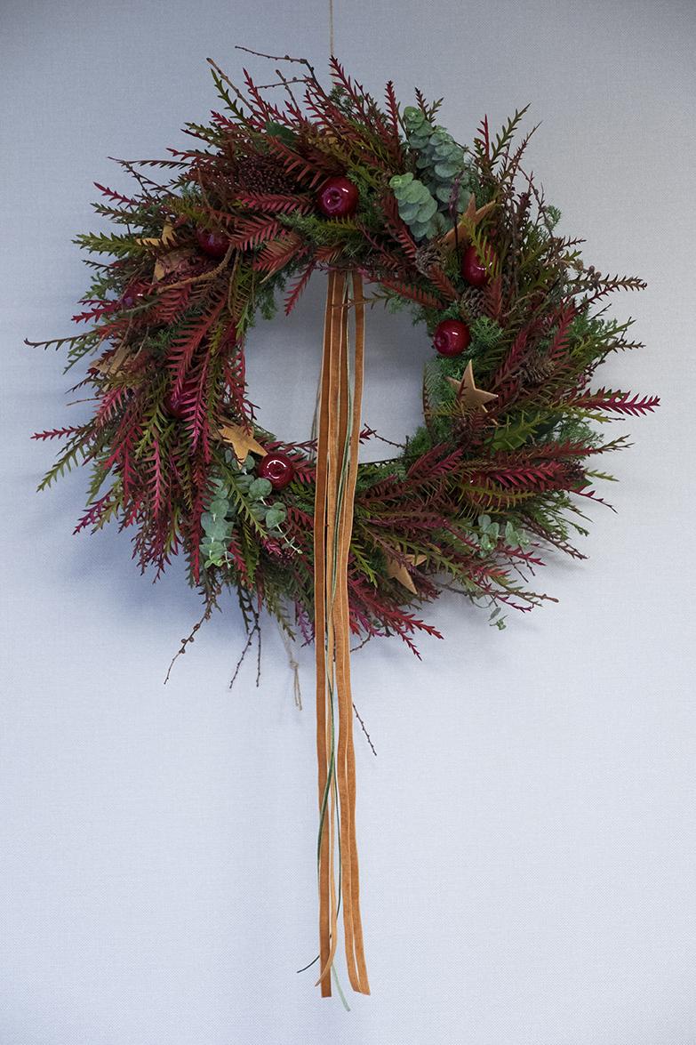 Red Christmas Wreath Seoul Florist